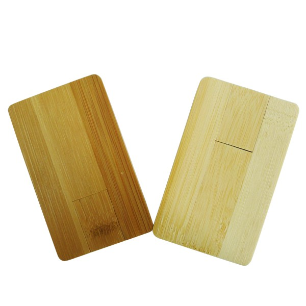 Low Price Wood Usb Flash Drive Wooden Card Type Memory Usb Stick 1Gb 2Gb Credit Business Usb Card