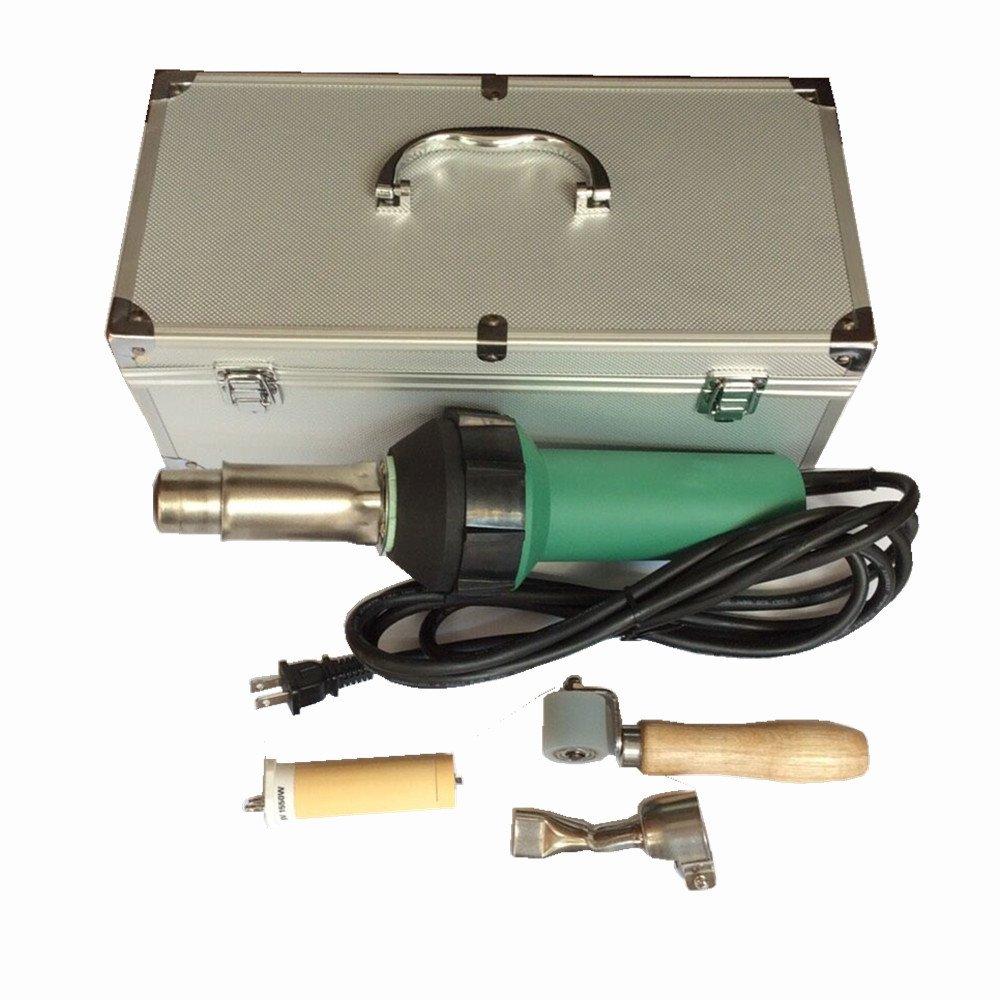 In New Practical 3400w Ce Handheld Hot Air Plastic Welder Gun Vinyl Welding Heat Gun Rod Gas With Accessories Fashionable Style;