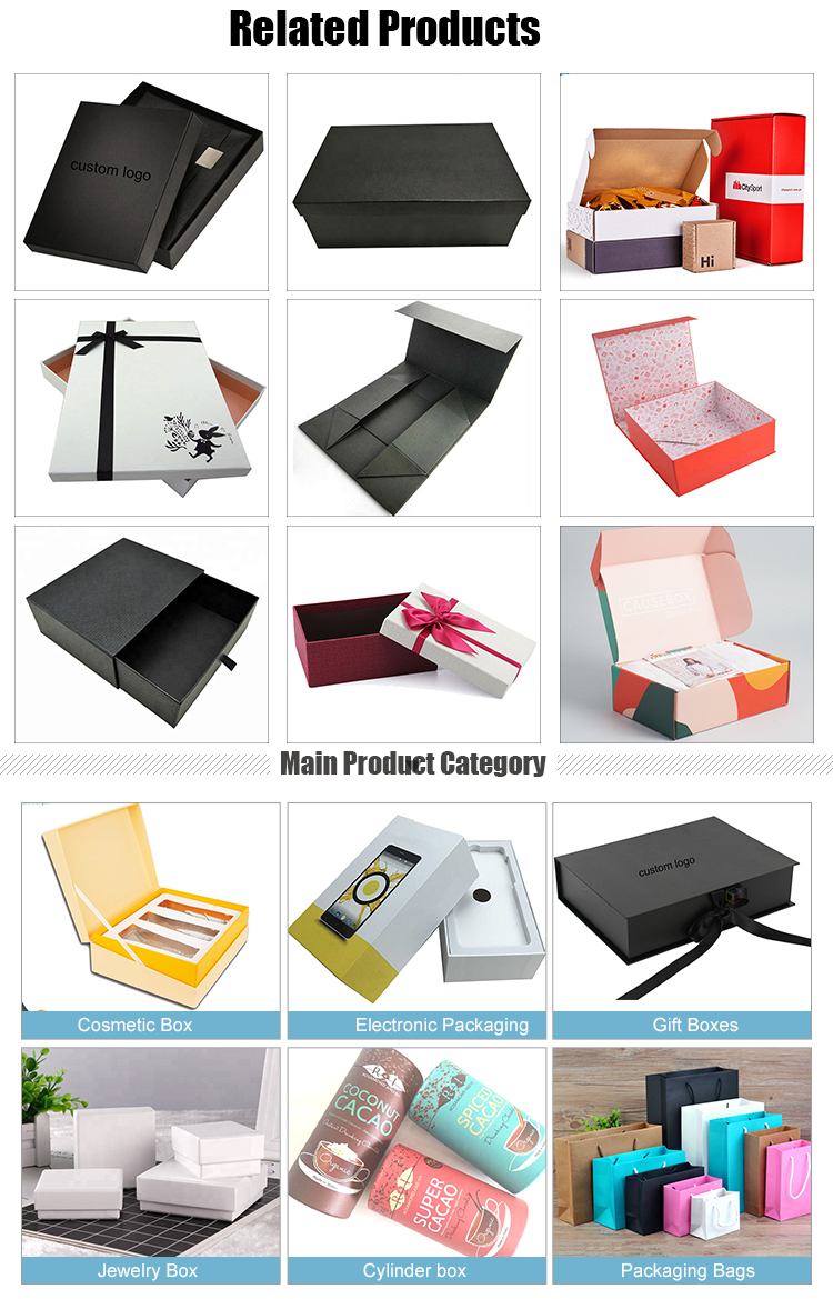 Custom Logo Light Golde Color Paper Bag Hair Packaging Bags With Hanger