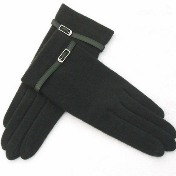 Korean style basic cheap winter woolen gloves for women