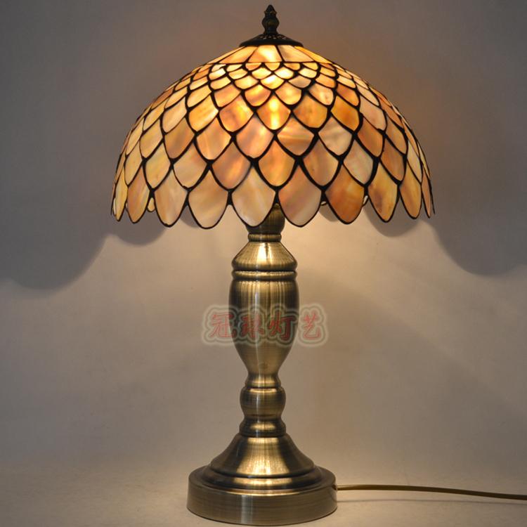 natural shell solder creative touch lamp dimmer lamp study bedroom lamp bedside lamp european. Black Bedroom Furniture Sets. Home Design Ideas