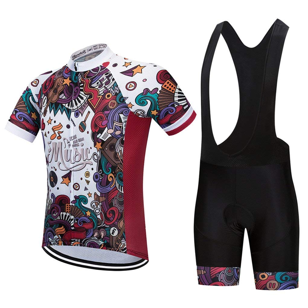 5eb29ab6ad7 Get Quotations · Cycling Jersey Set 2018 Breathable Short Sleeve Bicycle  Clothes Man s Bike Shorts