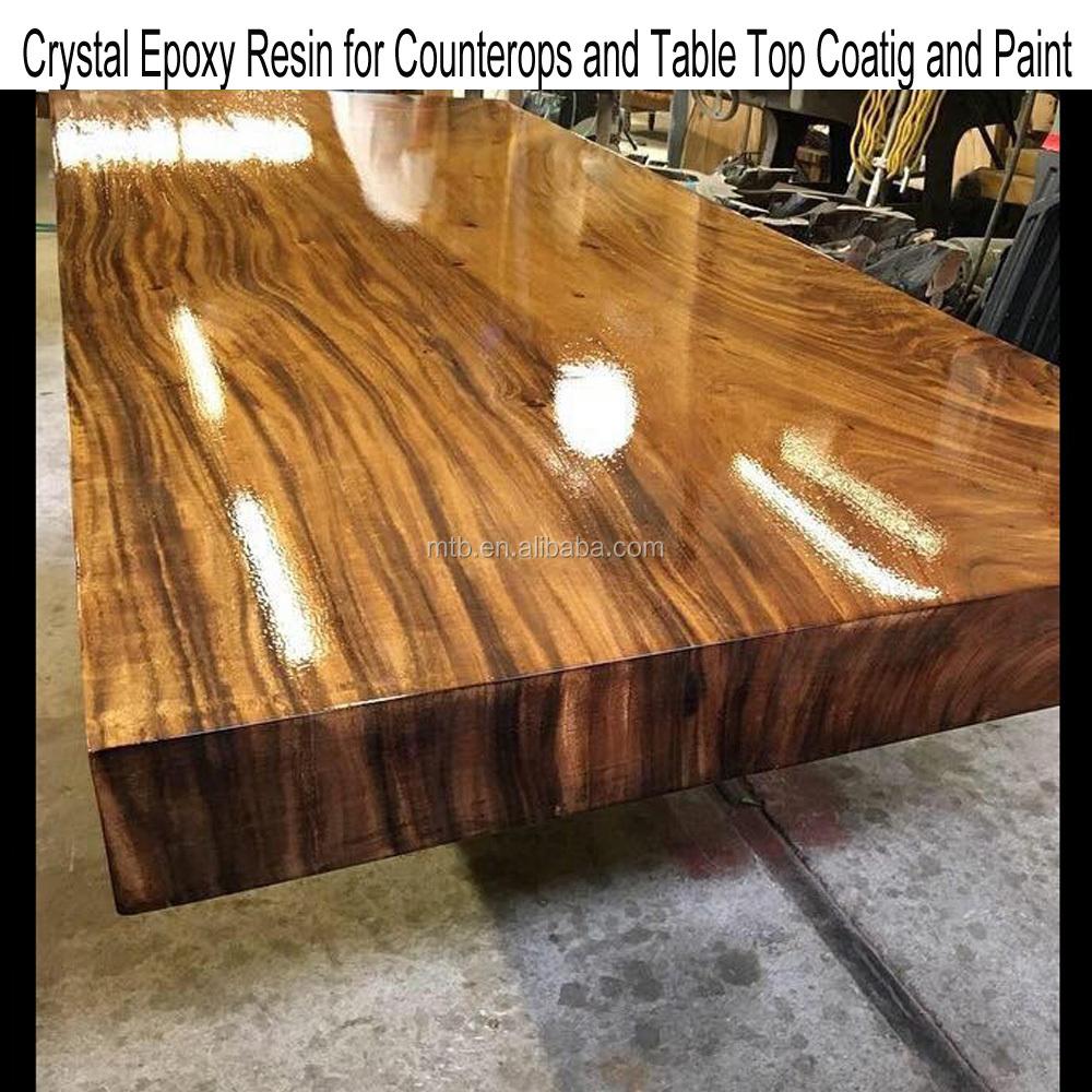 Resine Pour Peindre Meuble Bois table et meubles en bois de résine Époxy de verre supérieur - buy bonne  transparence revêtement en résine Époxy pour dessus de table en