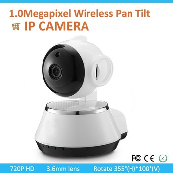 Security 720P WiFi Wireless Pan Tilt IP Camera Webcam