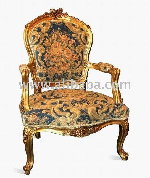 Sill n de estilo luis xv sillas para la sala de estar Muebles de sala luis xvi