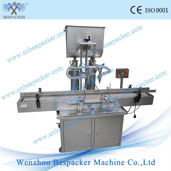 Automatic 2 nozzles paste olive oil filling machine