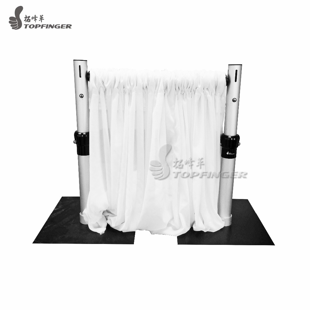 Portatile telescopico in alluminio traversa ganci tenda plissettata noleggio wedding scenografia stand pipe and drape per la decorazione