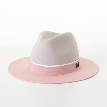 High Quality Wool Felt Two Colors Jazz Fedora Hats for Lovers