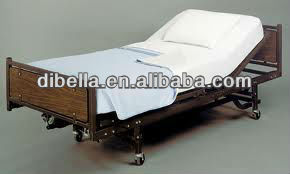 CVC55/45 plain white T180 hospital/hotel bed sheet