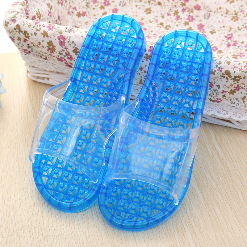 Beixiduo Women Spa Massage Foam Non-slip Bathroom Shower Household Beach flat jelly Slipper Sandal