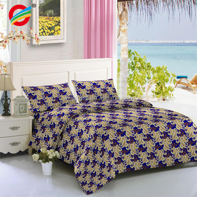 2018 Designs Polyester Mircrofiber bedsheets 100% bedding set