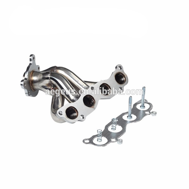 Stainless Exhaust System Chrome Header+gasket For Acura