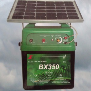 electric fence solar energizer for temporary pasture fence