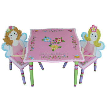 Merveilleux Lovely Wooden Children Fairy Toddler Play Table With Chairs