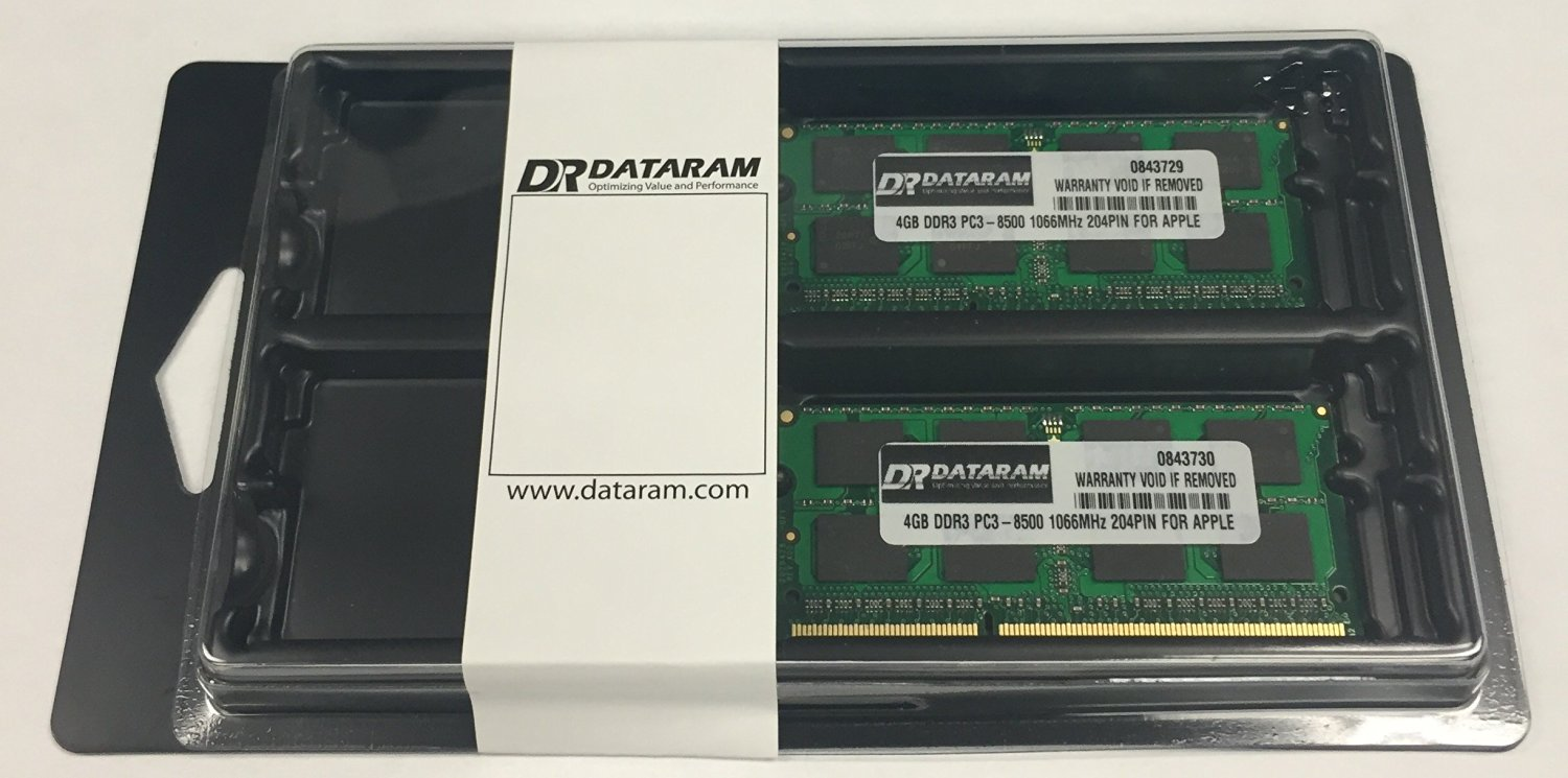 Certified for Apple 8GB KIT (4GB x 2) 1066MHz DDR3 SODIMM Notebook Memory for Apple Imac Macbook Macbook Pro