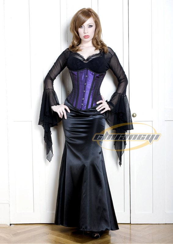 Satin corset SILIM 10 CM Immediately 7days arrived Quality Guaranteed 100% steel boned Corset CST-6006