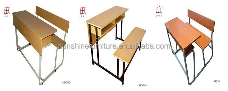 Newly Modern Adjustable Wood Classroom Single School Desk And