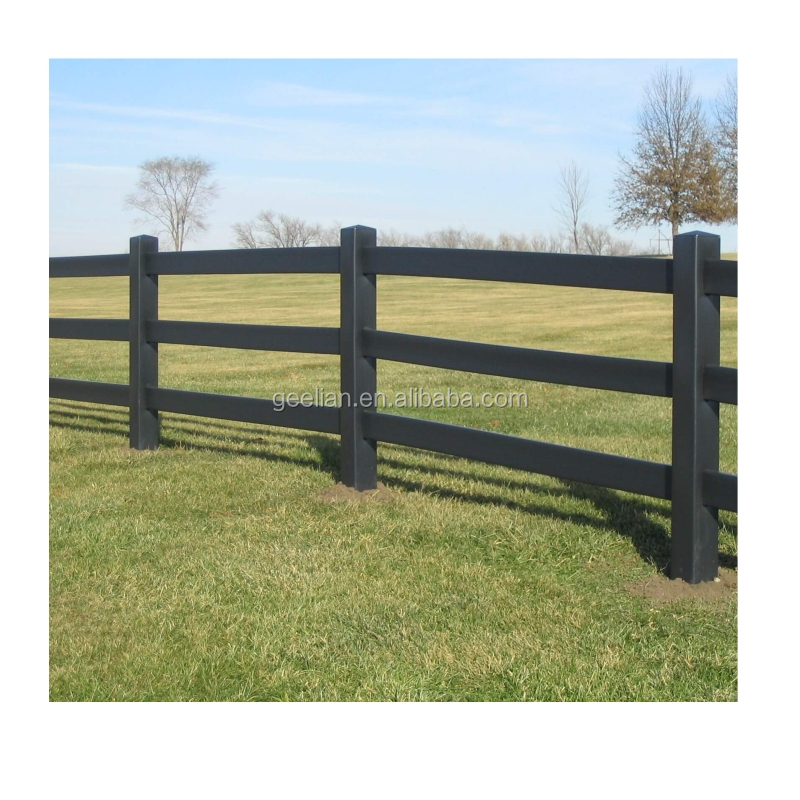 AU & USA Strong Quality Inspection Black Plastic Vinyl PVC Horse Fence Garden Fencing
