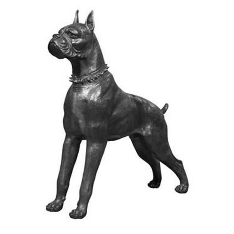 Life Size Boxer Dog Statues Sculpture