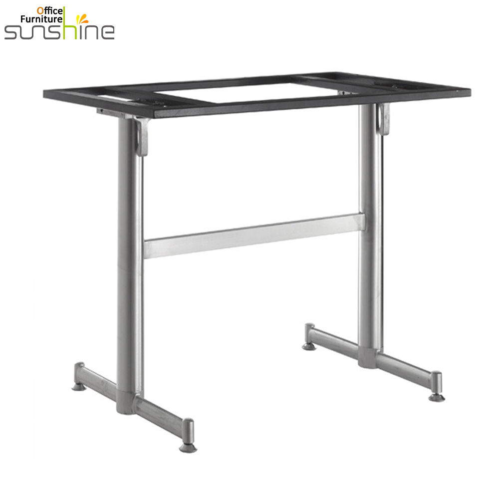 China Supplier Cheap Office Furniture Height Adjustable Metal Folding Stainless Steel Table Leg Philippines
