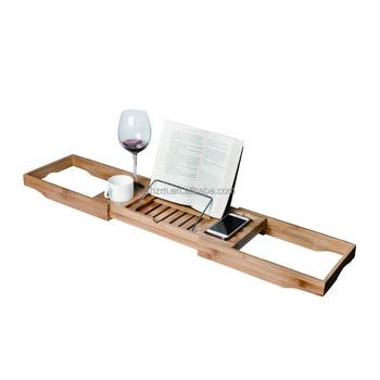 Wholesale New Design Bamboo Bathtub Caddy Bath Tub Tray Extendable ...