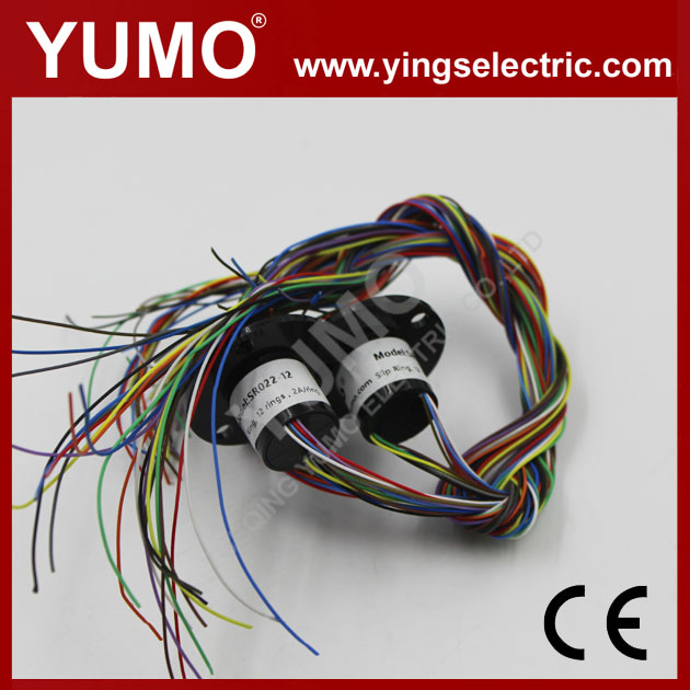 YUMO SRC022-12 dia 22mm 12rings 2A electrical contacts Capsule slip ring conductive slip ring