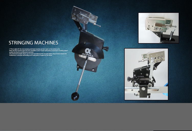 ALPHA Manual stringing machine for badminton and tennis racket
