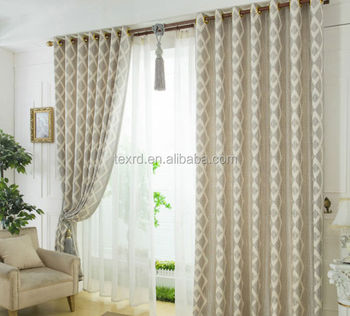 100 Polyester Latest Curtain Cloth Design Printed Curtains