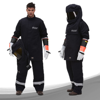 40cal Arc Flash Suit NFPA 70E HRC4 Electrical Protective clothing Arc rated suit