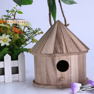 Natural Paulownia Solid Wood Processing Customized Woodwork Creative Sea Wooden Bird Nest Price
