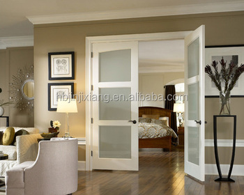 Captivating Modern White Colore Frosted Glass Interior Doors Ideas