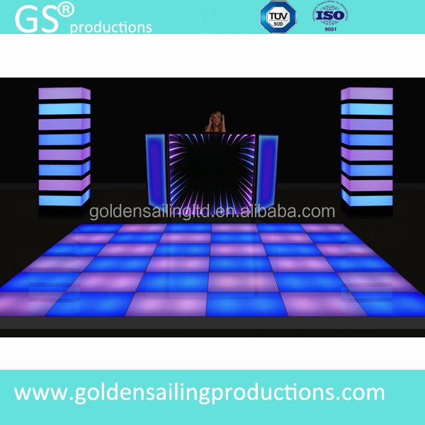 Manufacture classic 864pc LED dance floor pannels, acrylic dance floor