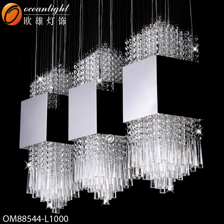 Hot sale modern crystal chandelier lighting diy stainless steel chandeliers long stairwell - Chandeliers on sale online ...