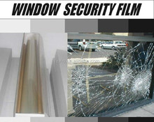 Auto armor safety film/smash & grab window tinting/2mil 4mil 12mil clear security window film