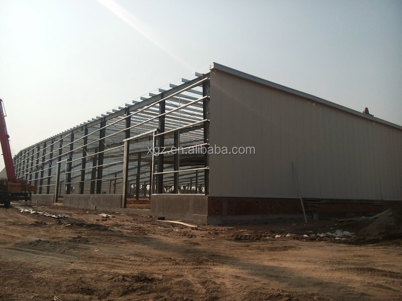 light steel warehouse building frame structure for Hisense logistics