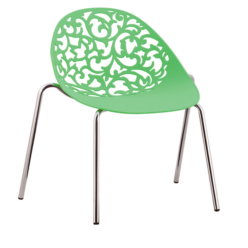 Egg-shaped pp dining chairs in factory price