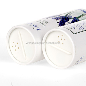 Custom Paper Box Packing Printed Cylinder Salt/Spice Packing Tube