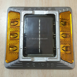 Yellow LED Cat Eye Solar road stud