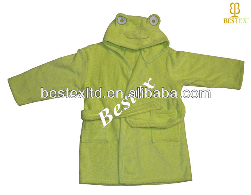 Personalized Cheap Cute Cotton Hooded Kids Bathrobes Wholesale ...