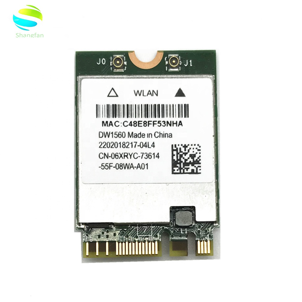 Wifi Network card for Hackintosh dell DW1560 BCM94352Z NGFF M.2 WiFi WLAN Bluetooth 4.0 802.11ac 867Mbps BCM94352 card