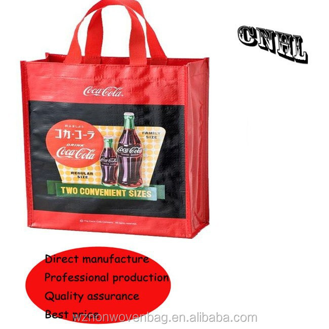 promotional pp woven laminated shopping bag