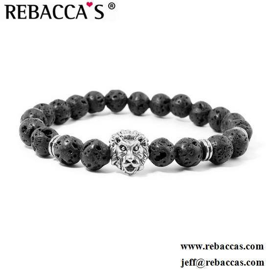 Natural 7 Chakra Lava Stone Beads Elastic Bracelet Essential Oil Diffuser Yoga Meditation Energy Jewelry
