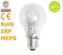 A55 220-240V 72W 53W E27 energy saving halogen lamps in classic shapes Halogen bulb