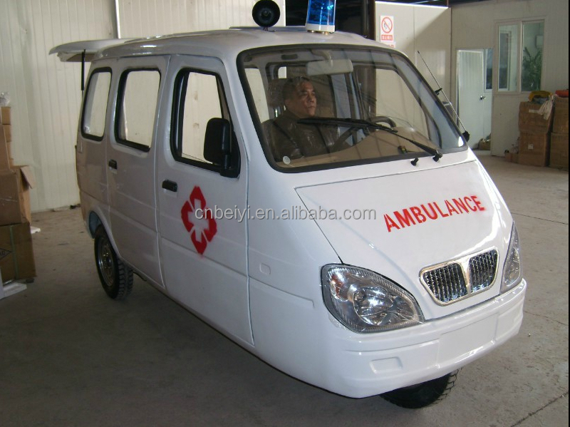China closed type mobility scooter ambulance electric tricycle for 2 person adult 250cc