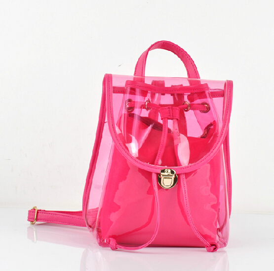 Fashionable Girl Clear PVC Transparent Backpack Bag