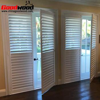 Gentil External Window Shutter Wood Jalousie Wooden Louver Shutter