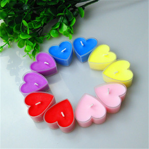 Hebei Seawell candles factory 10g heart shaped aromatic scented tealight candle