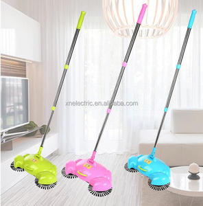 New Products Swivel Cordless Sweep Drag Sweeping Broom Hand Push Spin Broom
