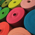 Recycled PET/100% Polyester material needle punched non woven fabric nonwoven soft Color Felt 1mm Fabric rolls With High Quality