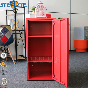 Incroyable Big Lots Pantry Cabinet Tall Single Door Storage Cabinet, Red
